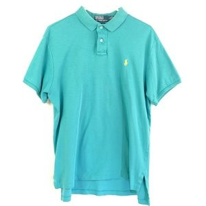 Polo by Ralph Lauren Men's Custom Fit Teal Polo